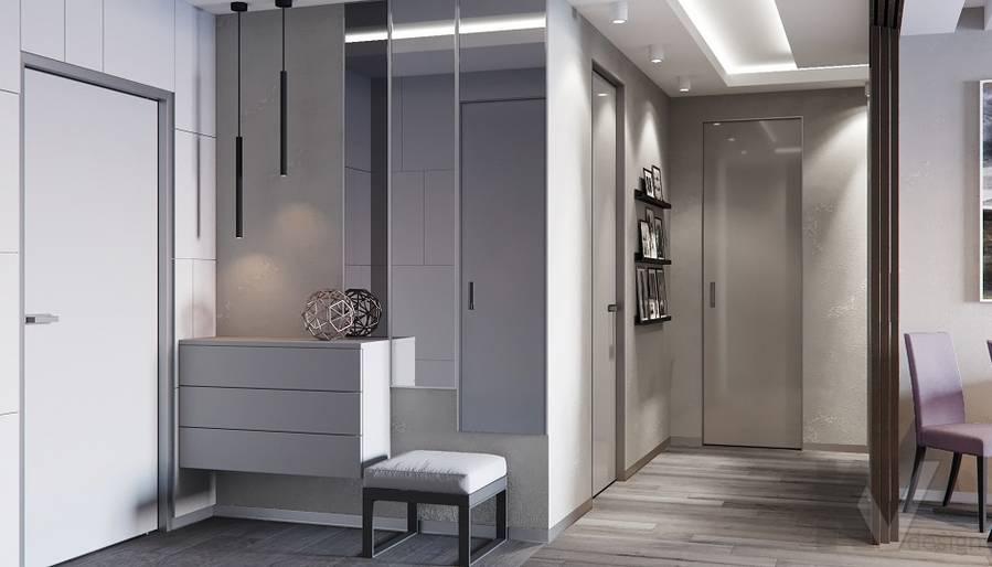Прихожая в проекте объединения квартир, Мытищи - 4