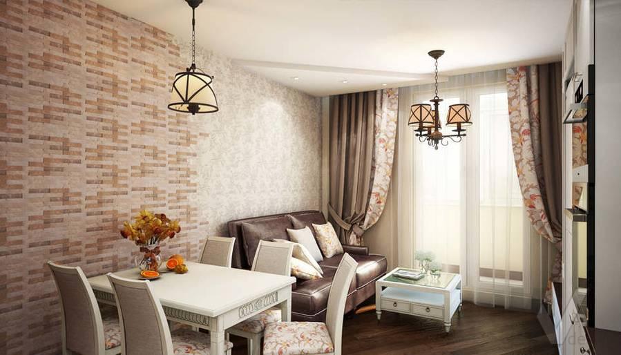 дизайн гостиной-кухни, Одинцово - 4