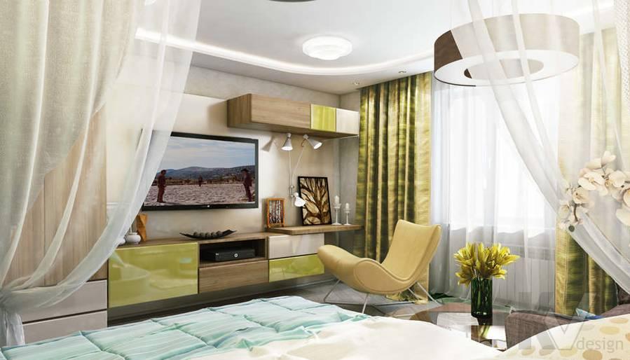 Дизайн гостиной в 2-комнатной квартире - 3