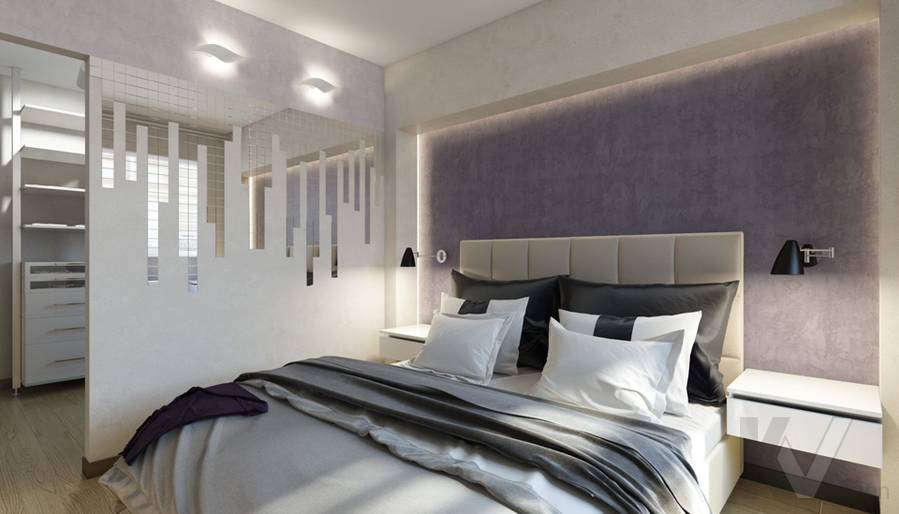 дизайн спальни в 3-комнатной квартире П-44Т, Речной вокзал - 2