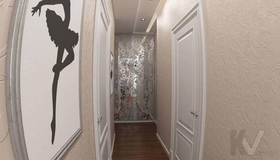 дизайн коридора в 3-комнатной квартире в ЖК Лосиный Остров - 1