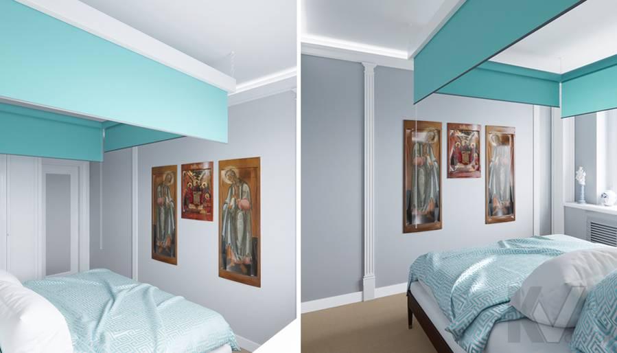 Дизайн спальни в квартире в Крылатском - 2