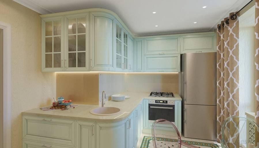 Дизайн кухни в квартире на м. Смоленская - 1