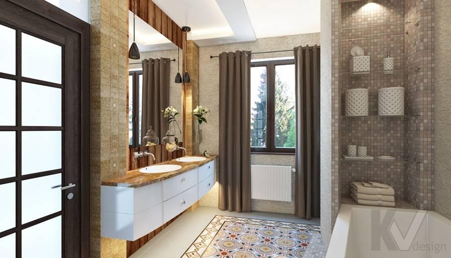 Дизайн ванной комнаты в трехэтажном доме - 1