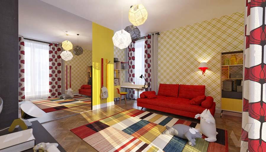 Дизайн детской комнате в доме, КП Монтевиль - 1