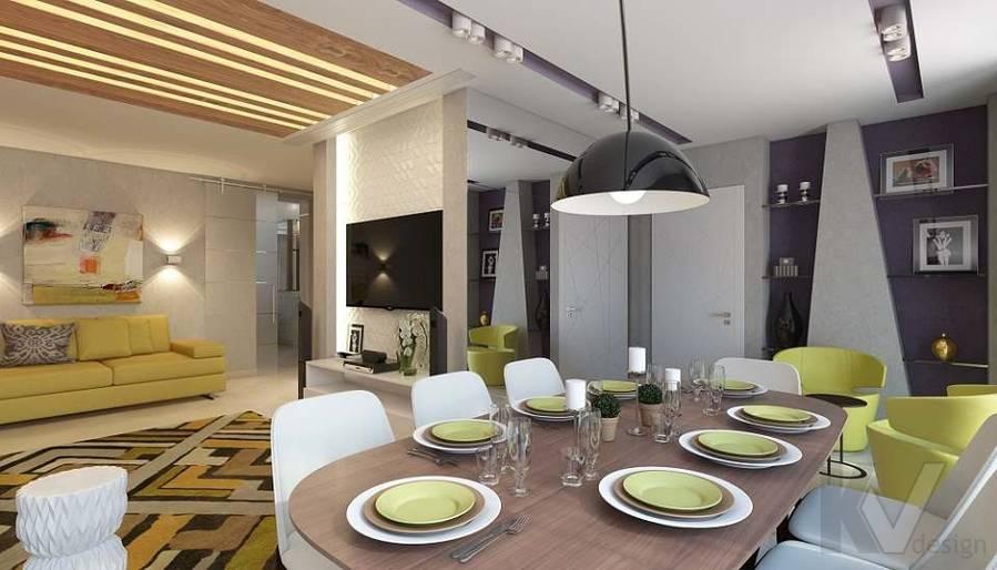 Дизайн гостиной в 2-комнатной квартире в Мытищах - 1