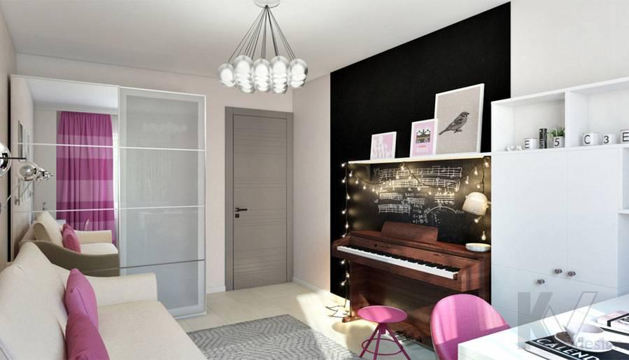 Комната девочки в 2-комнатной квартире П-111М, Тропарево - 2