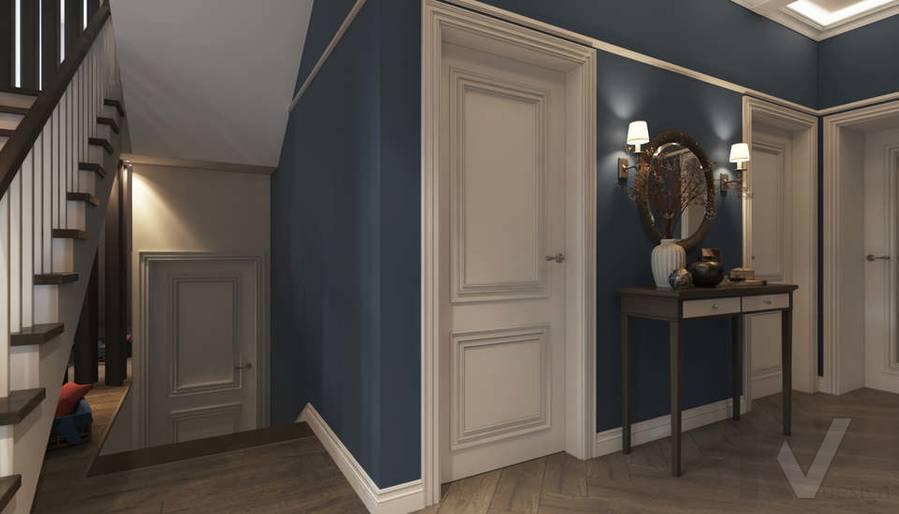 Дизайн прихожей в коттедже, КП «Vita Verde» - 1