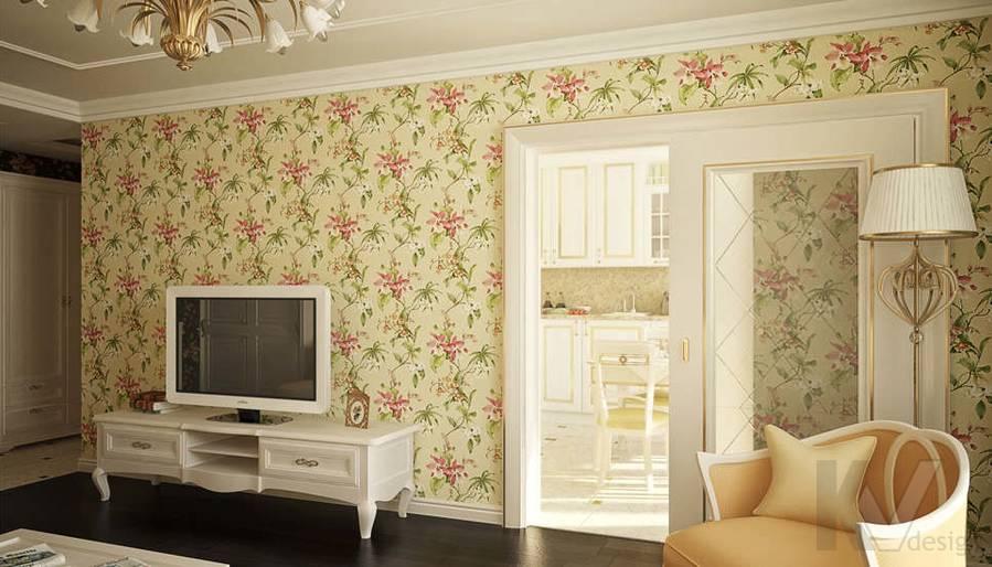Дизайн гостиной в двухкомнатной квартире, Подольск