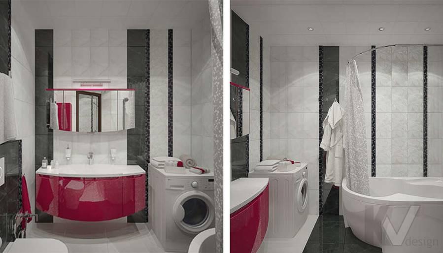 Дизайн ванной в 2-комнатной квартире - 4