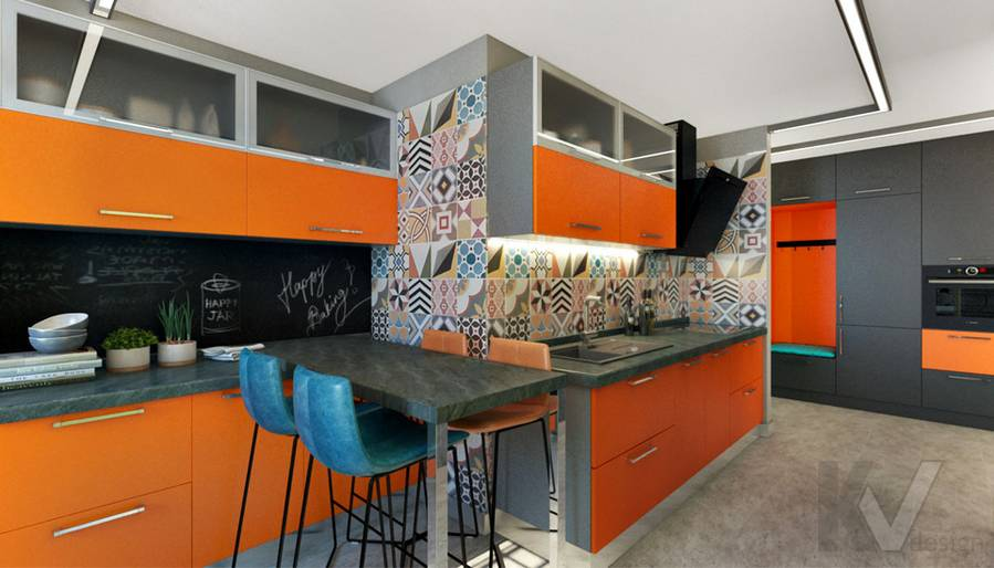 Кухня в 2-комнатной квартире П-111М, Тропарево - 1