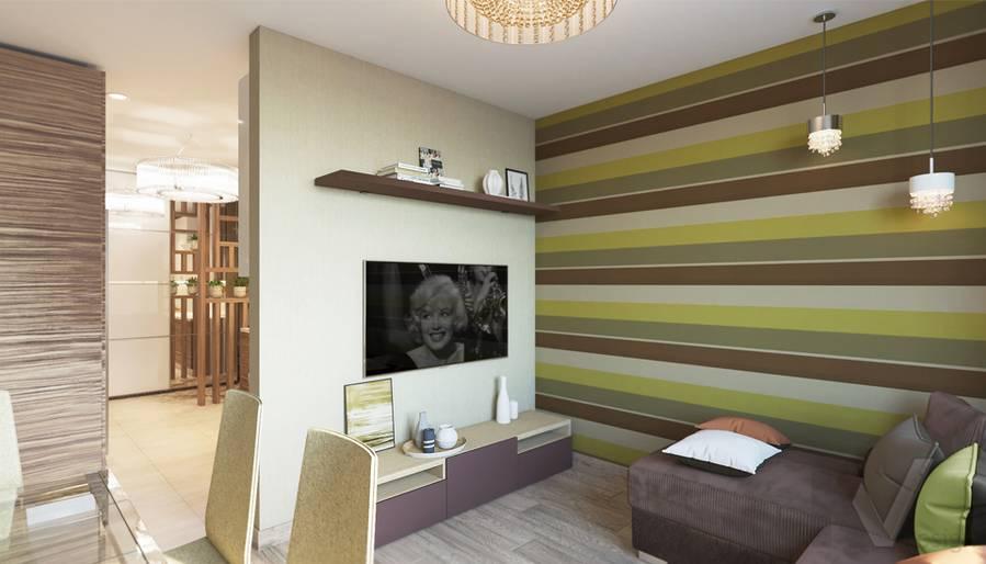 дизайн гостиной в 3-комнатной квартире, Welton Park - 3