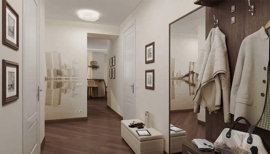 Дизайн 3 комнатной квартиры ЖК Богородский, прихожая - 1