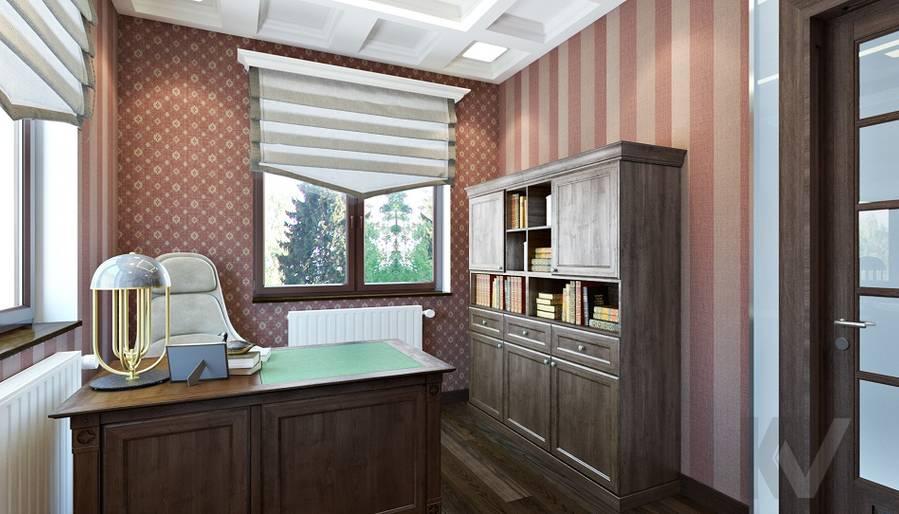 Дизайн кабинета в трехэтажном доме - 3