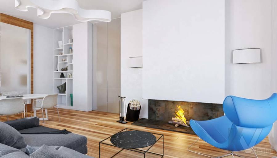 Дизайн гостиной в доме, КП Пестово - 3
