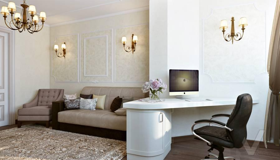 Гостиная в 3-комнатной квартире П-44Т, Люблино - 4