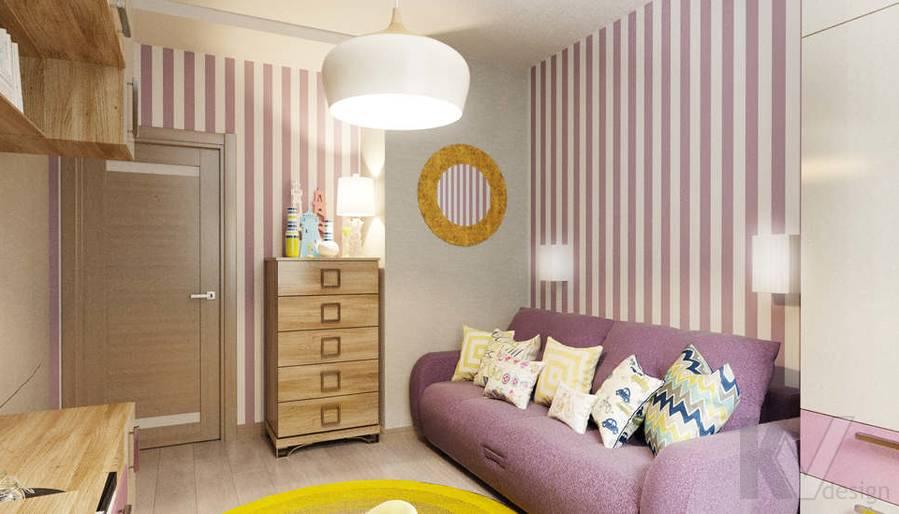дизайн гостевой комнаты в 3-комнатной квартире, Митино - 2