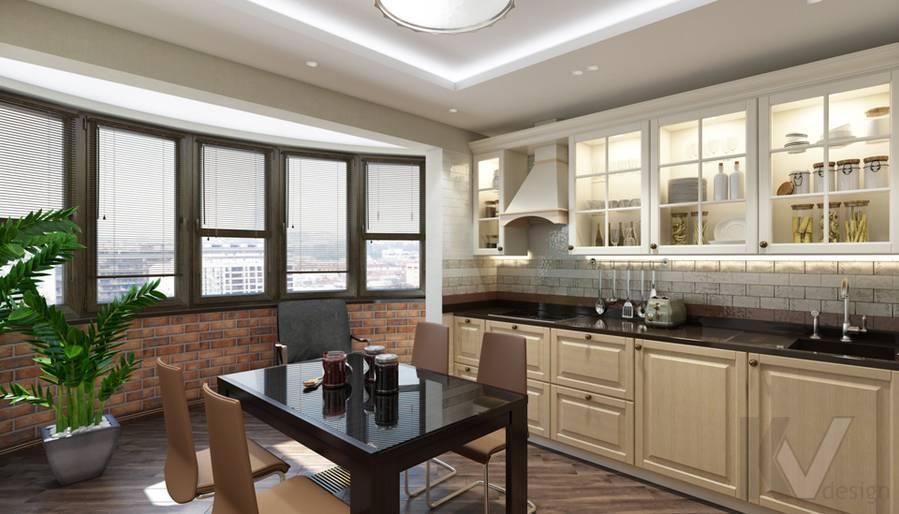 Кухня в 4-комнатной квартире, Реутов - 4