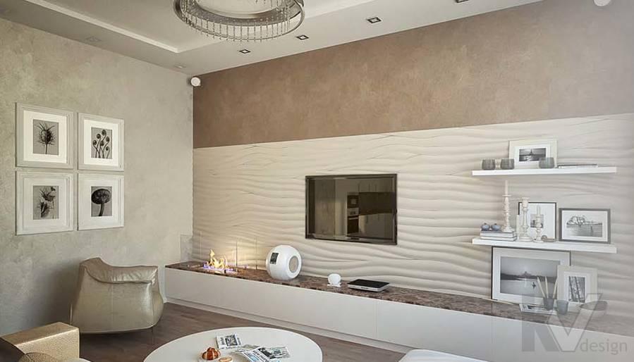 Таунхаус в п. Павлово, дизайн гостиной - 11