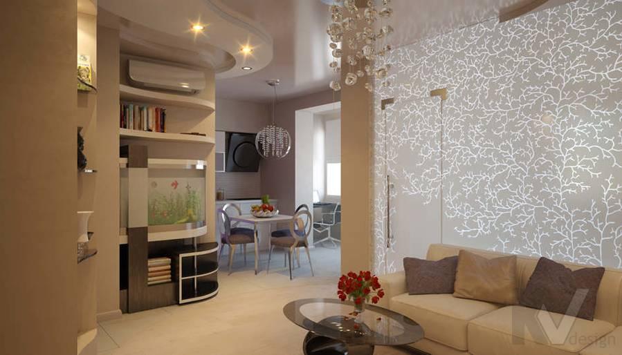 Дизайн гостиной двухкомнатной квартиры