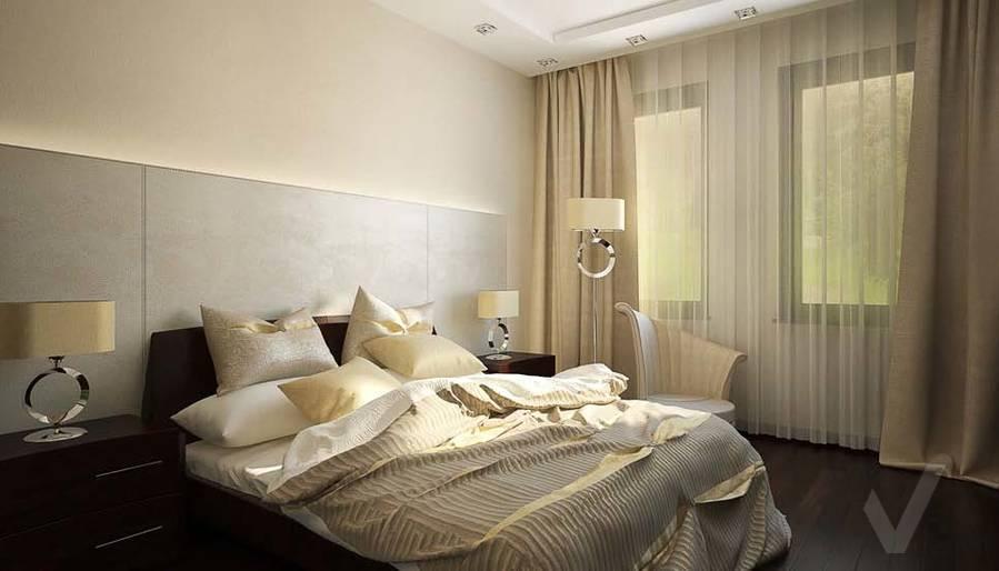 Таунхаус в п. Павлово, дизайн спальни - 3