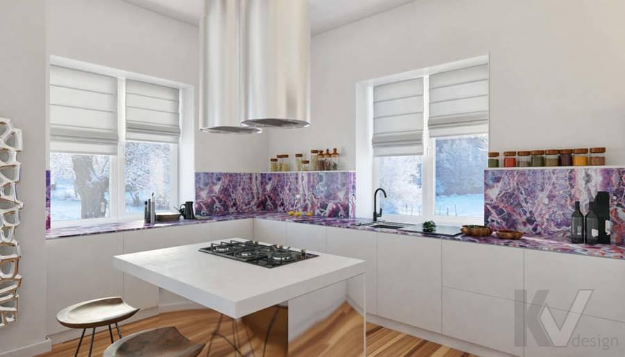Дизайн кухни в доме, КП Пестово - 2