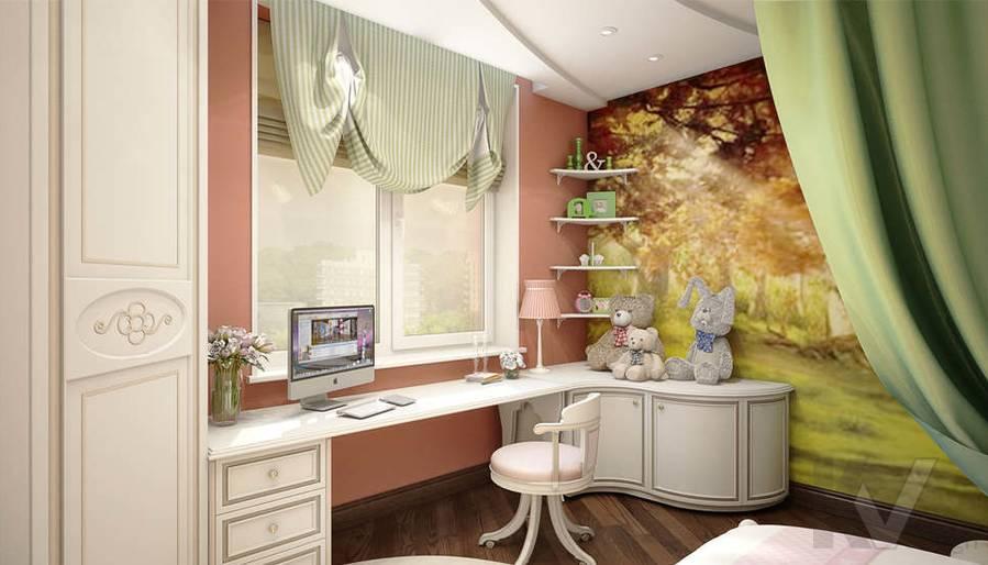 дизайн детской комнаты девочки, Одинцово - 3