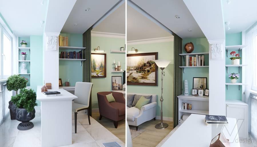 Дизайн гостиной в квартире в Крылатском - 6