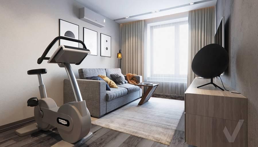 Спальня в проекте объединения квартир, Мытищи - 1
