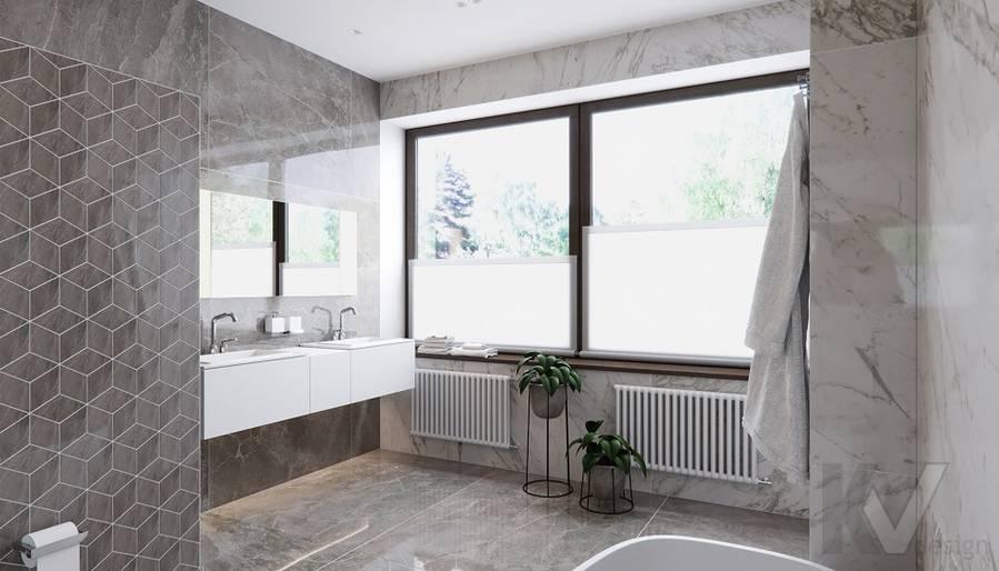 Ванная в доме в поселке Павлово - 5