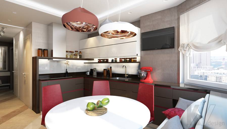 дизайн кухни в 3-комнатной квартире П-44Т, Речной вокзал - 4