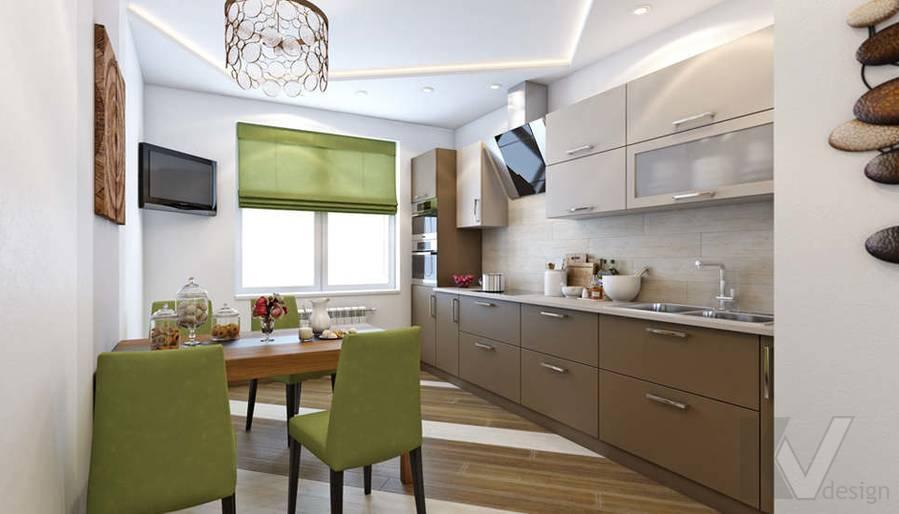 Дизайн гостиной в доме, КП Монтевиль - 5