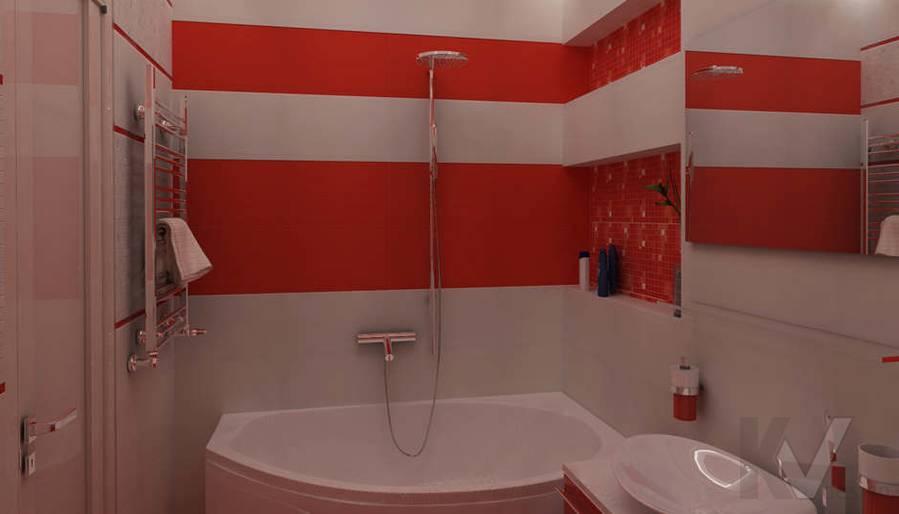 Дизайн ванной комнаты в двухкомнатной квартире - 2