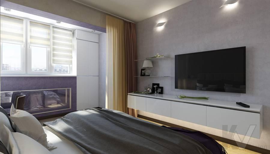 дизайн спальни в 3-комнатной квартире П-44Т, Речной вокзал - 4
