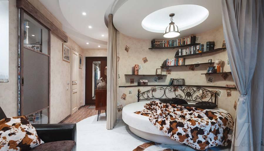 дизайн однокомнатной квартиры - фото гостиной 4