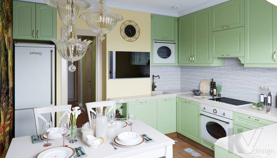 Дизайн кухни в квартире серии П-3, Ясенево - 2