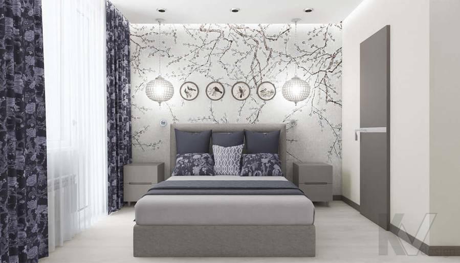 Дизайн спальни в 3-комнатной квартире П-3М, Новое Ясенево - 1