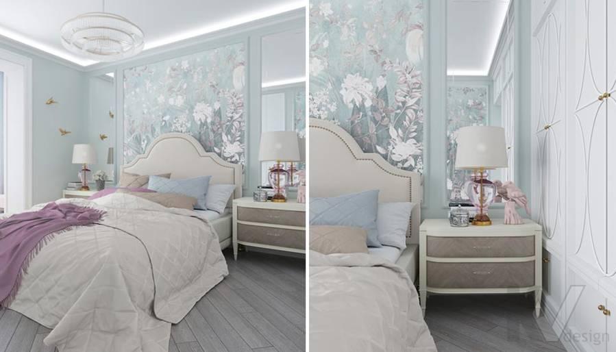Дизайн спальни в ЖК Тимирязев Парк - 3
