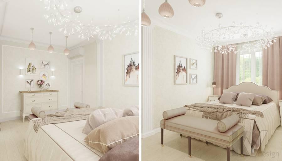 Дизайн спальни в квартире серии П-3, м. Братиславская - 1
