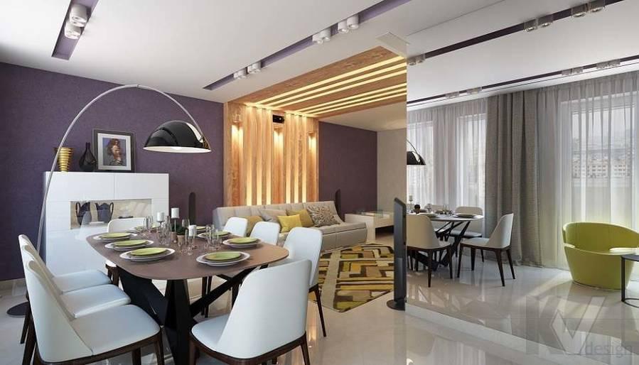 Дизайн гостиной в 2-комнатной квартире в Мытищах - 2