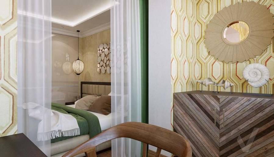 дизайн комнаты девушки в четырехкомнатной квартире П-3М - 1