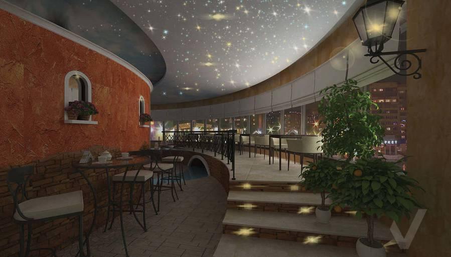 Дизайн ресторана, правый мост ночью