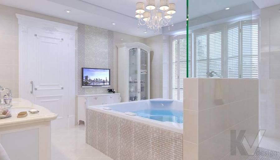 Дизайн ванной комнаты в доме, КП «Парк Авеню» - 2