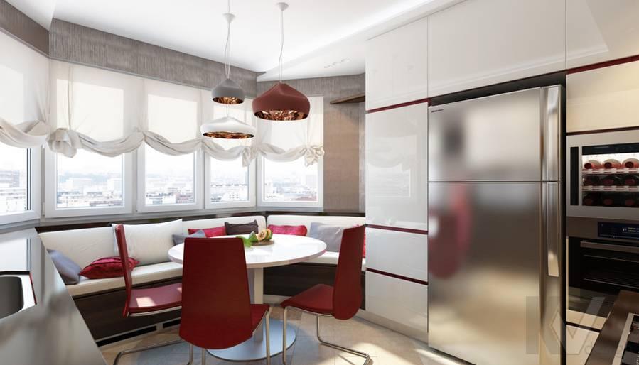дизайн кухни в 3-комнатной квартире П-44Т, Речной вокзал - 2