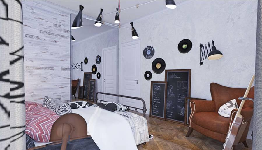 Дизайн спальни дочери в доме, КП Монтевиль - 3