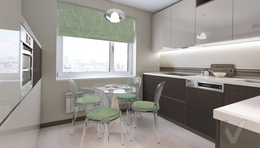 Дизайн кухни в 3-комнатной квартире П-3М, Новое Ясенево - 1