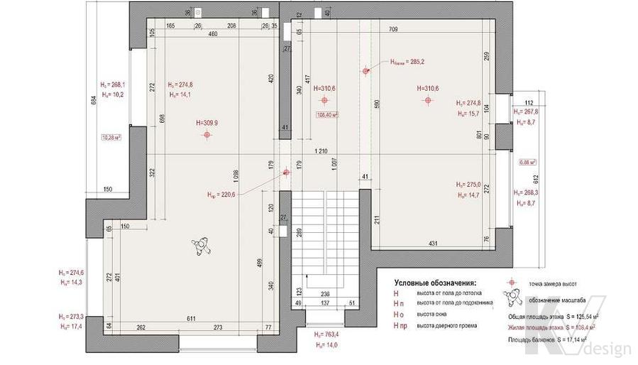 Планировка 2-го этажа дома, КП «Парк Авеню»