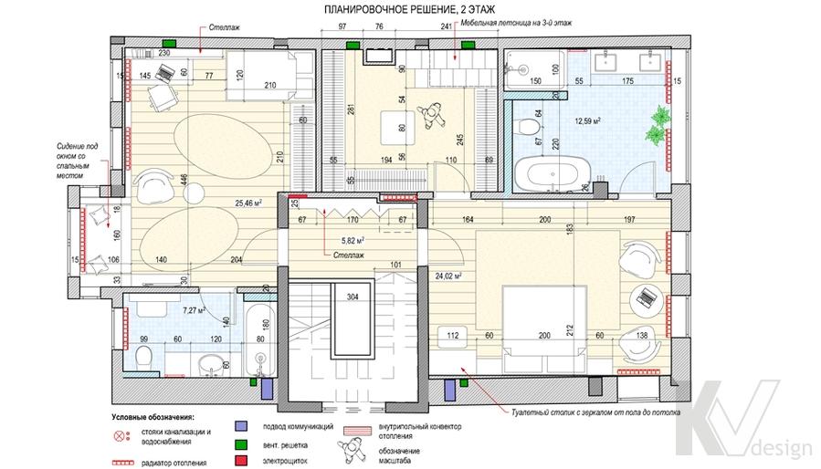 Перепланировка второго этажа дома в поселке Павлово