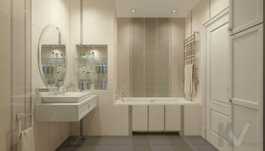 дизайн ванной комнаты в 3-комнатной квартире П-44Т - 2