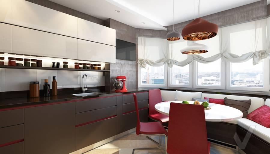 дизайн кухни в 3-комнатной квартире П-44Т, Речной вокзал - 3